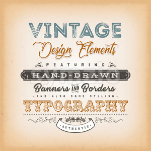 Vintage Label Sign Stock Vector