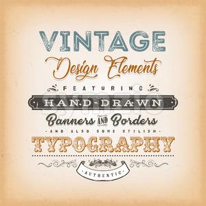 Vintage Label Sign Stock Vector
