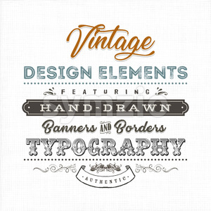 Vintage Label Sign On Fabric Texture Stock Vector