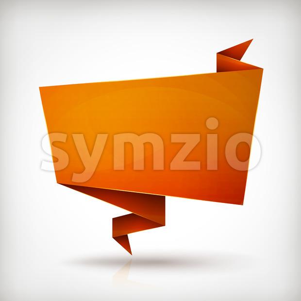 Origami Paper Banner Stock Vector