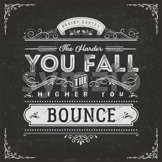 The Harder You Fall The Higher You Bounce Stock Vector