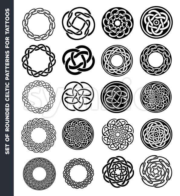 Celtic Circles And Rings For Tattoo Design Stock Vector