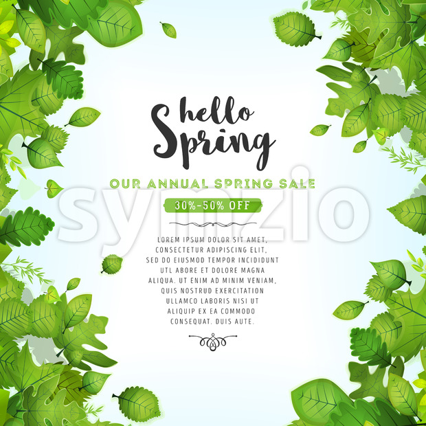 Our Annual Spring Sale Stock Vector