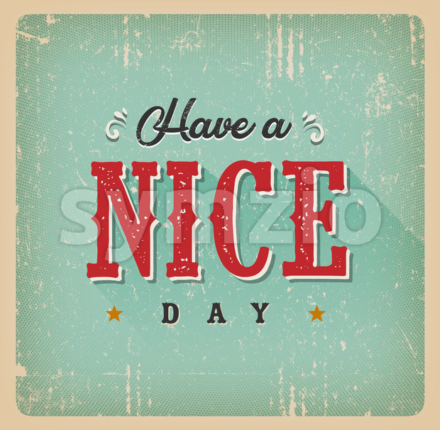 Have A Nice Day Card Stock Vector
