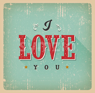 I Love You Card Stock Vector