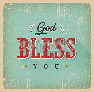 God Bless You Card Stock Vector