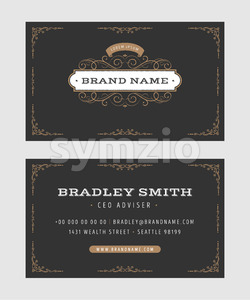 Business Card With Vintage Ornaments Stock Vector