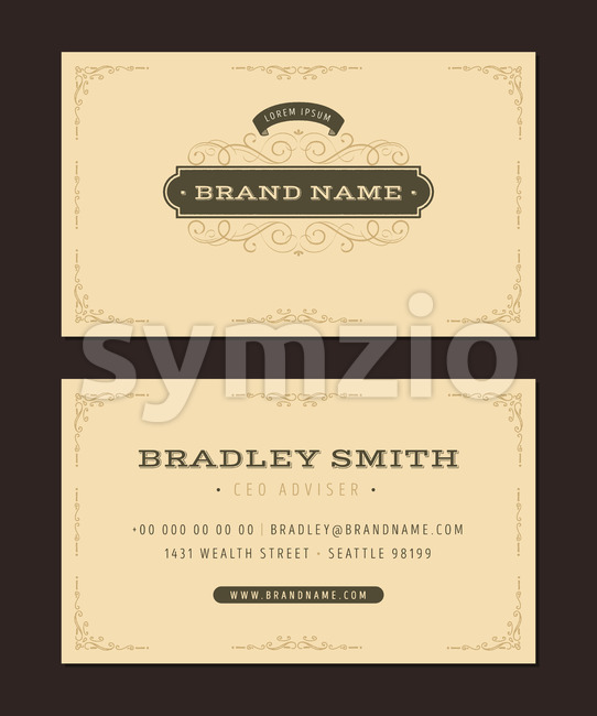 Luxury Business Card Stock Vector