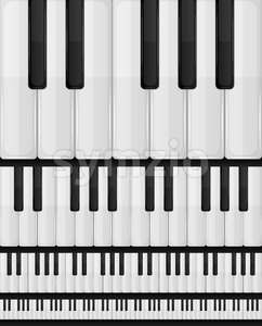 Piano Keyboard Seamless Background Stock Vector