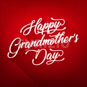 Happy Grandmother's Day Background Stock Vector