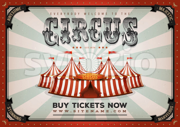 Vintage Circus Poster Background Stock Vector