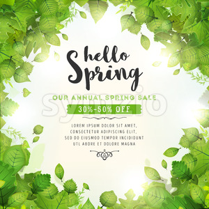 Annual Spring Sale Background Stock Vector