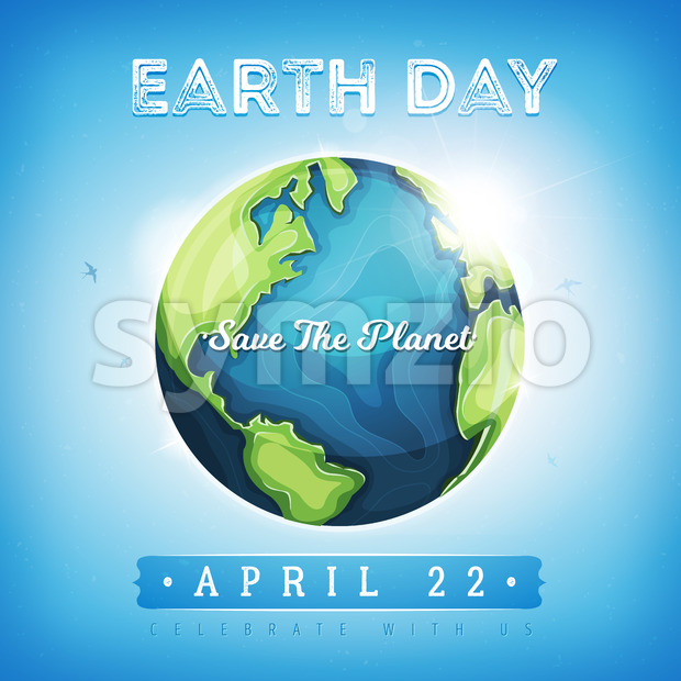 Happy Earth Day background Stock Vector