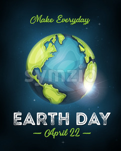 Earth Day Celebration Poster Stock Vector