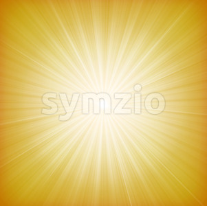 Summer Sun Starburst Background Stock Vector