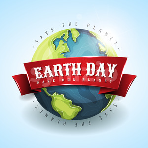 Happy Earth Day Banner April 22 Stock Vector