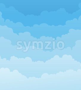 Sky Background With Clouds Layers Stock Vector