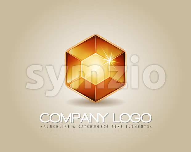 Gem Logo For Luxury Company Stock Vector