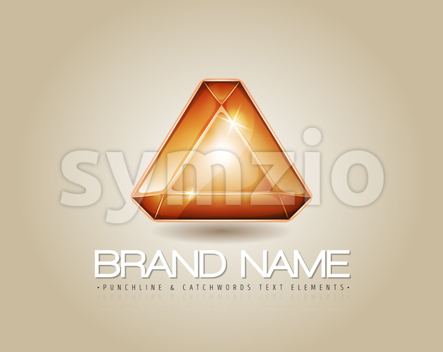 Brand Logo For Visual Identity Stock Vector
