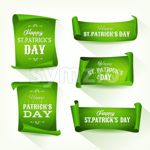 St. Patrick's Day Parchment Scroll Set Stock Vector