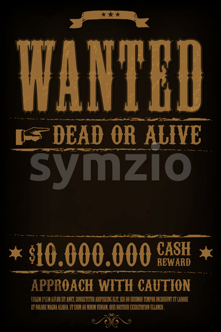 Wanted Western Poster Background Stock Vector