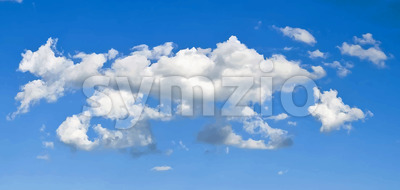 Elegant Vector Clouds On Blue Sky Background Stock Vector
