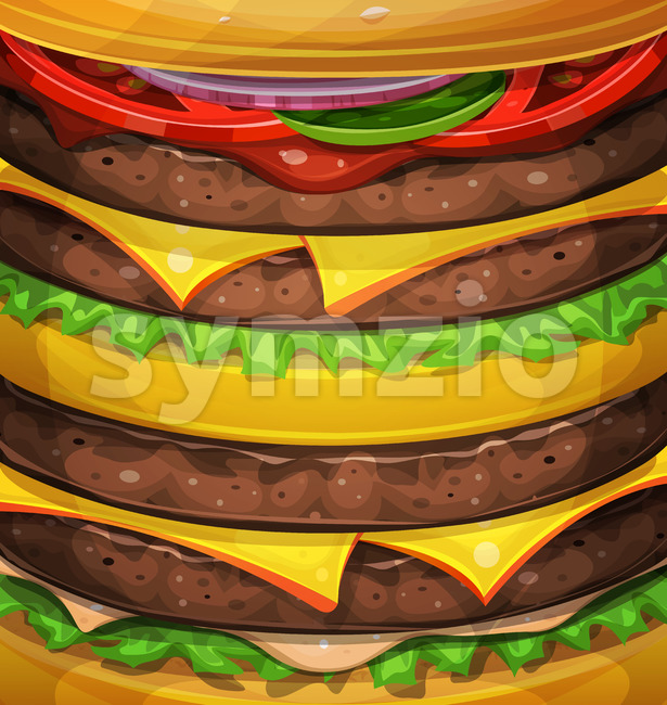 American Burger Background Stock Vector