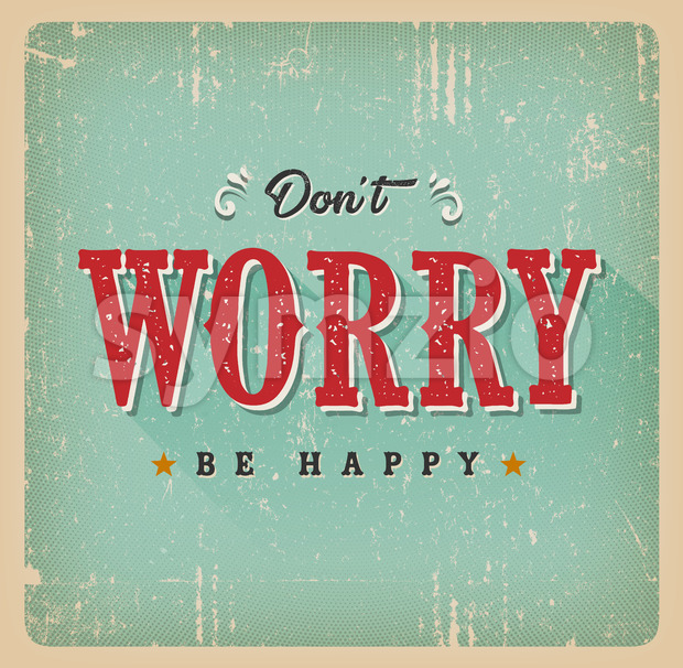 Don't Worry Be Happy Card Stock Vector