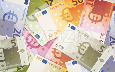 Euro Bills Background Stock Vector