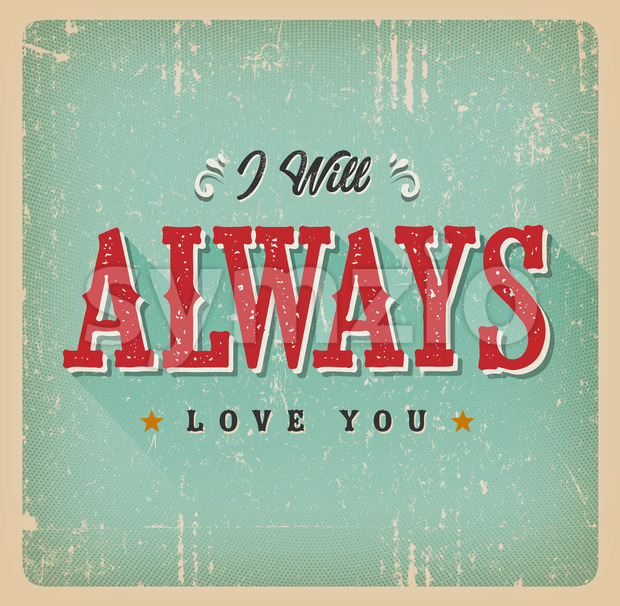 I Will Always Love You Card Stock Vector