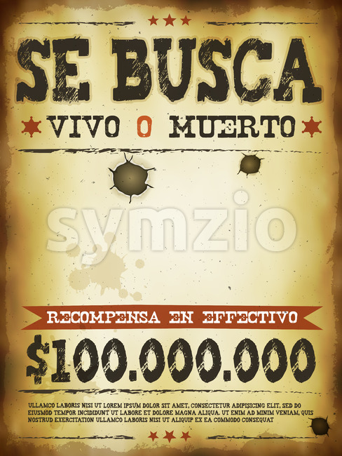 Wanted Western Poster Stock Vector