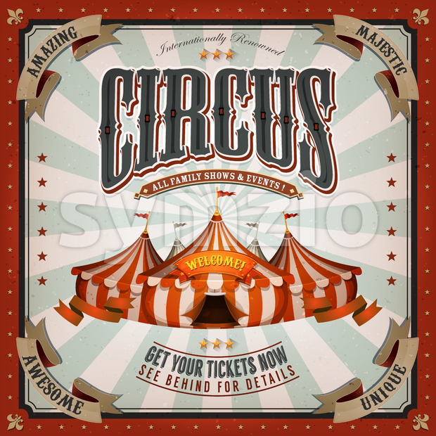 Vintage Circus Background Stock Vector