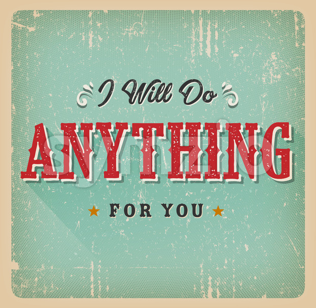 I Will Do Anything For You Card Stock Vector
