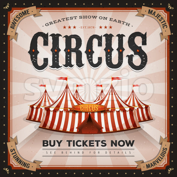 Vintage And Grunge Circus Poster Stock Vector