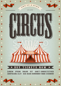 Circus Poster Design Stock Vector