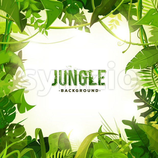 Jungle Tropical Decoration Background Stock Vector