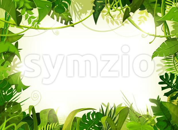 Jungle Tropical Landscape Background Stock Vector