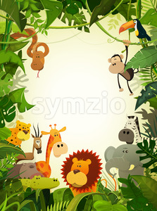 Wildlife Animals Wallpaper Stock Vector