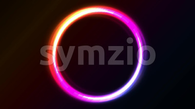 Abstract Shiny Light Circles Animation Stock Video