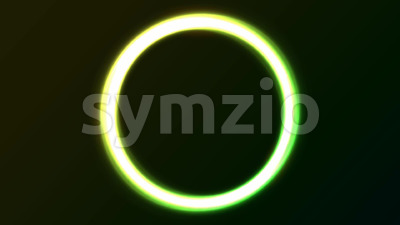 Abstract Green Eclipse Light Circles Animation Stock Video