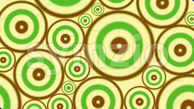 Animation loop of an hypnotic and psychedelic abstract multiple spiral background with red rings and circles
