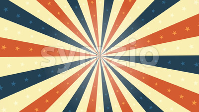 American Vintage Background Rotation Animation Stock Video