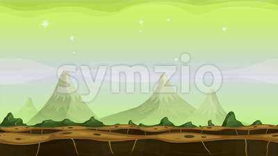 Fantasy Alien Mountains Background Loop Stock Video