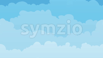 Sky Background With Clouds Seamless Looping Stock Video