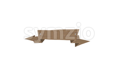 Cartoon Animated Wood Banners And Ribbons Stock Video