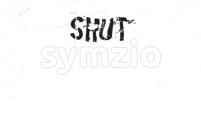 Shut The Fuck Up Animated text Message Stock Video