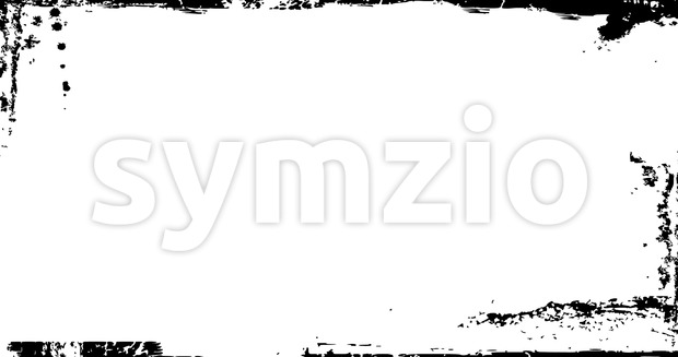 Animation of a vintage motion graphic with black and white grunge distressed frame texture
