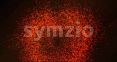 Abstract Fire Explosion Background Animation Stock Video