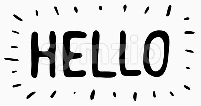Hello Letters Scribble Animation Doodle Stock Video