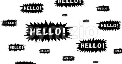 Hello Speech Bubble Scribble Animation Doodle Stock Video